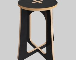 stool kitchen 3D model