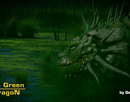 3D model The Green Dragon