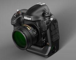 Nikon D4 Photo Camera 3D Model