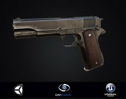 3D model Colt 1911 PBR Game Ready