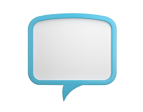 3D Speech Bubble V04