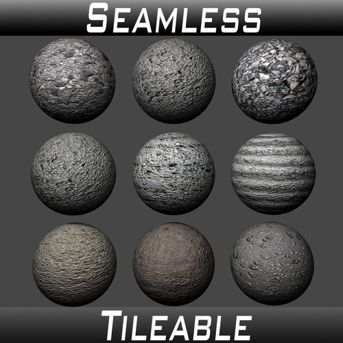 concrete textures pack 1 3d model  1