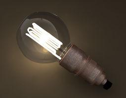 3D Eco-filament Pear shaped bulb