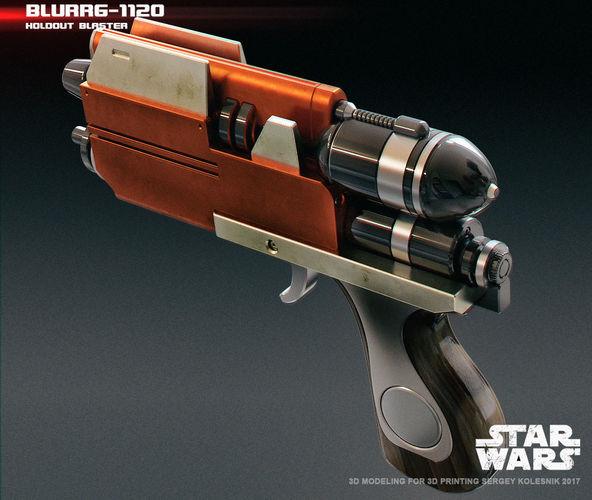 blurrg-1120 holdout blaster 3d model stl ige igs iges 1