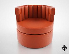 Amy Somerville Sazerac armchair 3D