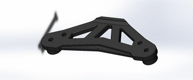 tamiya tt-01 e upper bumper plate 3d print model 3d model stl sldprt sldasm slddrw ige igs iges 1