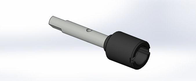 tamiya tt-01 e main drive shaft joint 3d print model 3d model stl sldprt sldasm slddrw ige igs iges 1
