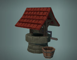 3D asset Low Poly Well