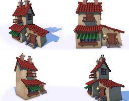 3D asset Low Poly Cartoon House