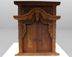 Gebyok Antique Furniture 3D model