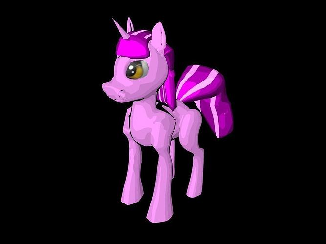 my little pony  3d model ma mb 1
