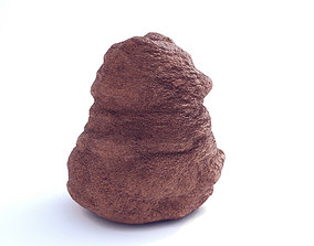 3D asset Low Poly Sand Stone 2