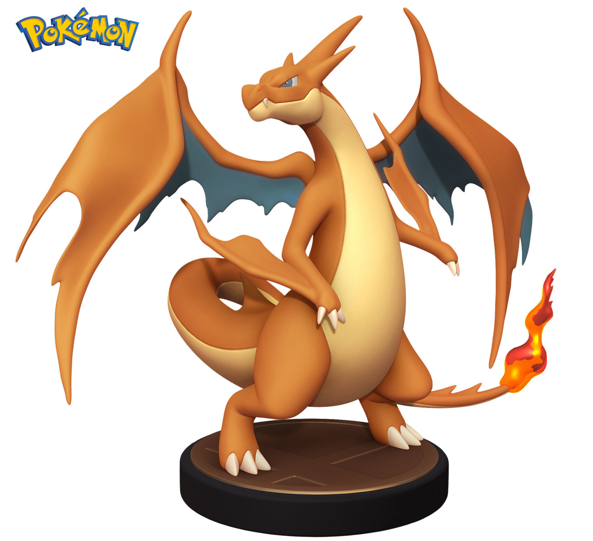 image relating to Pokemon Printable Images referred to as Pokemon Charizard Y - 3D Printable Determine - Toy 3D Print Style
