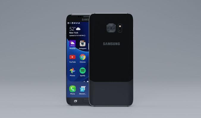 samsung s7 edge 3d model max obj mtl 3ds fbx 3dm 1