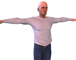 Clothed Character 3D asset animated