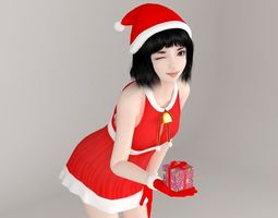 Kayoko Christmas pose 01 3D model