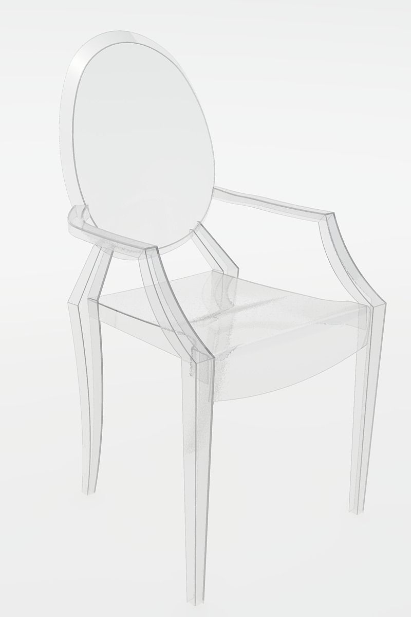 Starck ghost chair chairs seating for Chaise ghost philippe starck