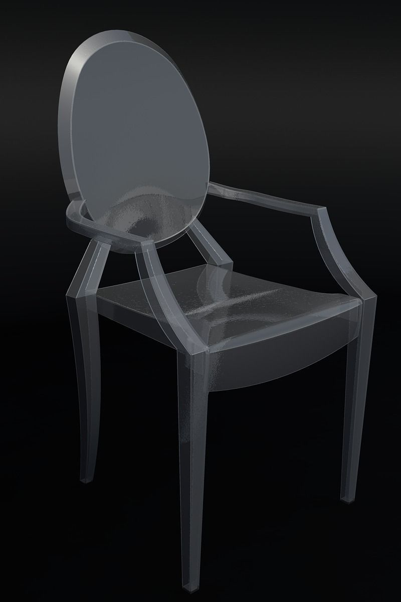 ghost chair by philippe starck 3d model dwg. Black Bedroom Furniture Sets. Home Design Ideas
