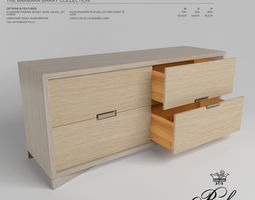 BAKERS KONA DOUBLE CHEST 3301 3D asset low-poly
