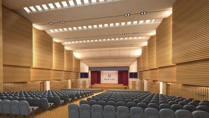 Auditorium Room 3d Model Architecture Cgtrader