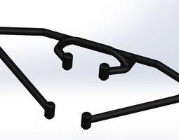 Team Associated SC10 T4 Front Bumper 3D print model 3