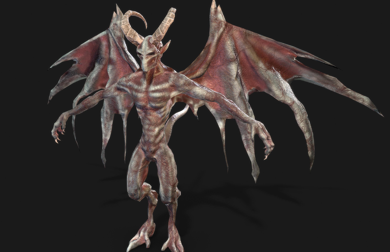 Winged Demon Gargoyle