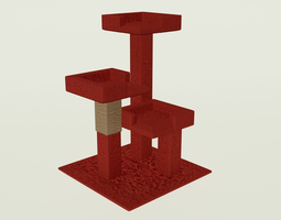 3D model Scratching Post - PBR - Perfect for Interior 1