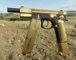 Premium Gold Sidearm Pack GameReady 3D asset