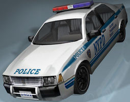 NYPD Police Interceptor 3D asset VR / AR ready