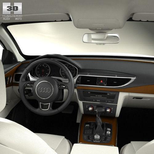 2008 Audi S5 Interior: Audi A7 Sportback With HQ Interior 2011 3D Model .max .obj