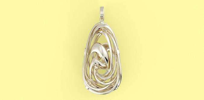 wavy necklace 3d model max obj 3ds fbx ma mb stl 1