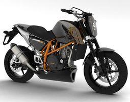 KTM 690 Duke Track 2014 3D Model