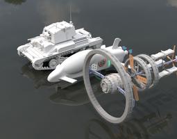 3D model Space ship hi-tech