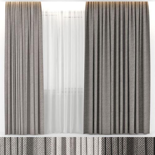 curtains wool 3d model max obj mtl fbx 1