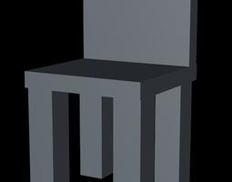 3D asset chaire