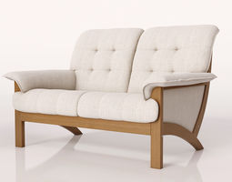 3D soft living room sofa - 2 seat 3 seat and a couch