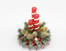 christmas candle 3D