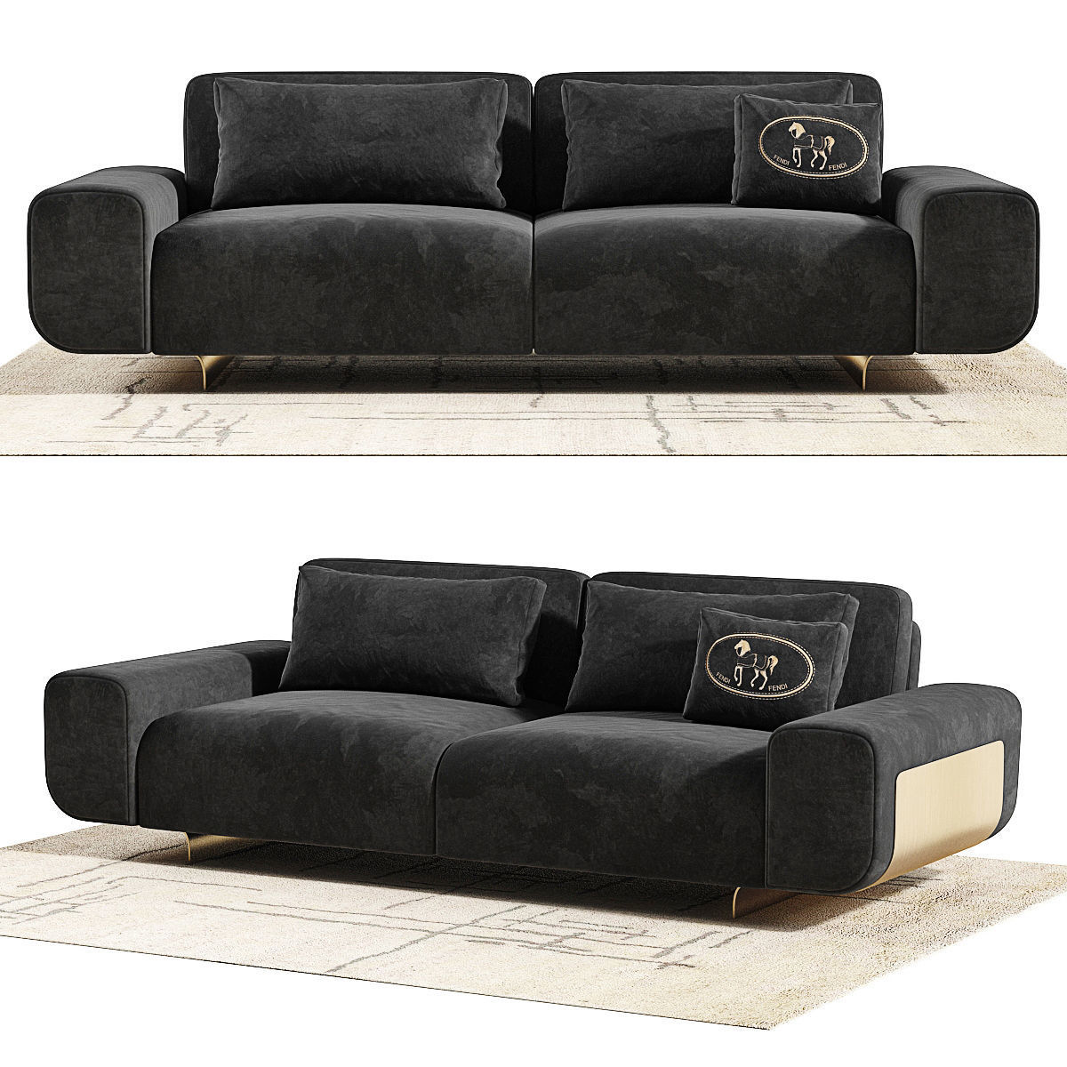 ... Fendi Casa Camelot Sofa 3d Model Max Obj Mtl Fbx Unitypackage Prefab 4  ...
