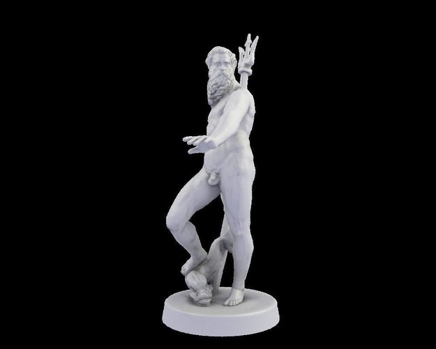 3D printable model Neptune statue | CGTrader