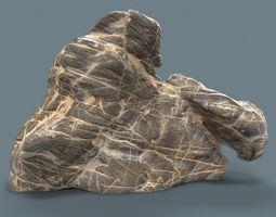 Suiseki Decoration Grey Marble 3D asset