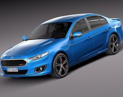 Ford Falcon XR8 2015 3D Model