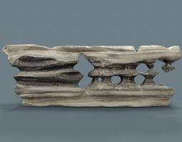 3D model Grey Stylized Pebble Rock Formation