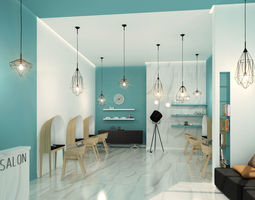 3D provence Beauty salon in the style of Provence