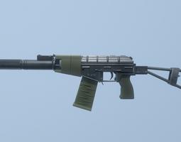 Soviet Assault Rifle - AS VAL 3D model