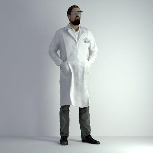 3d scan man scientist 024 3d model max obj fbx mtl 1