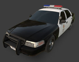 3D model Ford Crown Victoria LAPD