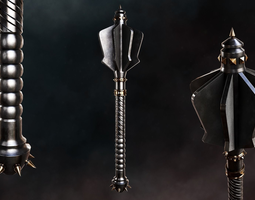 3D model Flanged Mace