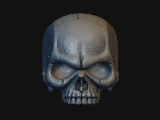 skull stylized 3d model obj mtl fbx stl 1