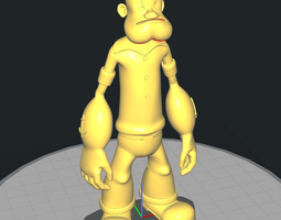 3D print model Popeye The Sailor