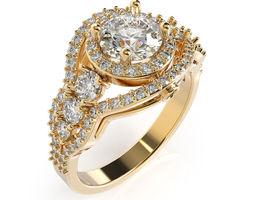 Ring 3D print model many sizes